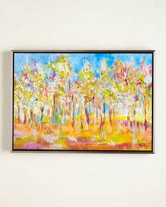 """Orchard in Orchid"" Giclee, Multi Colors"