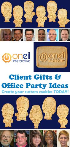 Parker's Crazy Cookies designs personalized cookies of people, pets & logos for special events. The most unique custom party favor on Planet Earth Office Parties, Grad Parties, Holiday Parties, Personalized Cookies, Custom Cookies, Teacher Retirement Parties, Office Birthday, Crazy Cookies, Jw Gifts