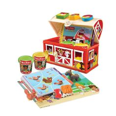 Amazon.com: Canal Toys USA Ltd Canal Toys USA Fisher Price Dough Farm Tool Case Kit: Toys & Games