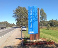Seymour town entry Zoo Signage, Entrance Signage, Signage Board, Outdoor Signage, Wayfinding Signage, Signage Design, Outdoor Art, Environmental Graphics, Environmental Design