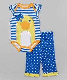 Love this Blue 'Just Ducky' Bodysuit & Pants - Infant by Buster Brown on #zulily! #zulilyfinds