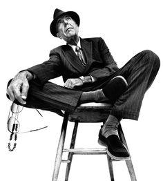 Platon - Leonard Cohen pinned with Bazaart