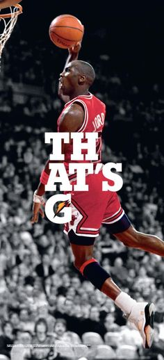Great ad by Gatorade showing one of the greatest basketball players of all time and his signature dunk.