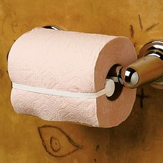 Toilet Paper Saver!! YES YES I NEED THIS! When your toddler thinks they are cat and unravels the toilet paper roll at every chance they get! Ha! Genius who-ever invinted this is just genius!