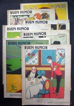 revistas Buen Humor lote de 7 , año 1923 , dibujantes , K-Hito , Garrido, Mel , Ramirez , ect..