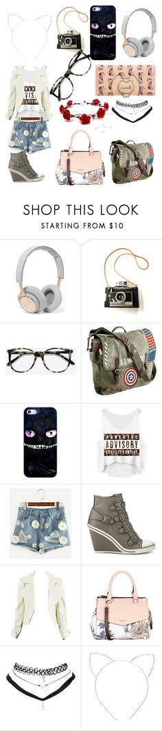 """Roleplay!!!"" by info-chan ❤ liked on Polyvore featuring B&O Play, Ace, Marvel, Casetify, Fiorelli, Wet Seal and Cara"