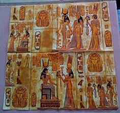 3 Decoupage Napkins Egypt Ancient Egypt Paper Napkins Ideal