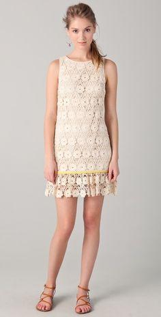 Juicy Couture Daisy Guipure Dress. I love... I want.