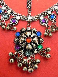 Gypsy Jewelry | ... Piece Belly Dance Damni Tikka Mang Jewelry Ethnic Gypsy ATS | eBay