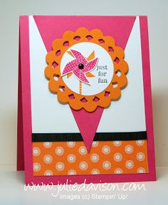 Julie's Stamping Spot -- Stampin' Up! Project Ideas Posted Daily: Just for Fun Pennant Card