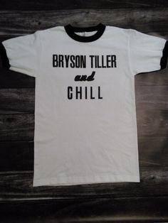Bryson Tiller and Chill ringer T-shirt  #brysontiller #chill #shopdeeztees