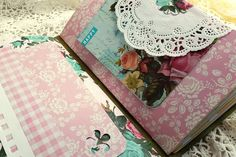 Great example of junk journal. Plenty of space for journaling, lots of unusual papers, uneven sizes, etc. I like these.