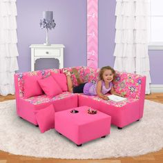 Pier 1 Imports Daisy Doodle with Passion Pink Kid's Sectional Set Kids Furniture Sets, Playroom Furniture, Cheap Furniture, Furniture Design, Furniture Websites, Furniture Removal, Furniture Online, Furniture Stores, Home Decor Sites