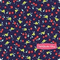 Vintage Picnic Navy Cherries