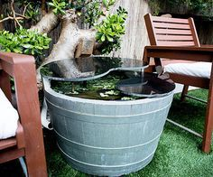 Chances are your landlord won't let you dig a 3-foot-deep hole in the backyard. If you still want that water feature, wine or whiskey barrels are a great way to bring aquatic plants (like water lilies) to your garden.