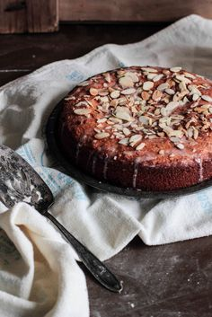 Almond Cake Why the heck am I looking at desserts, after being surrounded all weekend with them??    I see a weeknight dessert or a good quick breakfast treat!