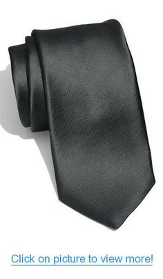 New Skinny Slim Narrow Solid Black 2 Inch Necktie Tie