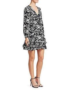 dfef5cb535a Tanya Taylor - Block Print Silk Dress