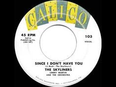 1959 HITS ARCHIVE: *Since I Don't Have You* One of the classic doo-wops - Skyliners - YouTube