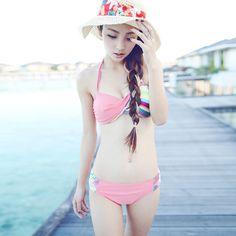 Summer fresh pink bikini