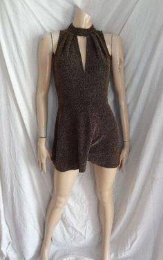 fb6c63050e6e (387DEC) NEW 36 Size 8 TOPSHOP Chic gold black lurex knit playsuit