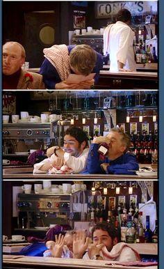 Gary and Clive being very unhelpful. Miranda Tv Show, Miranda Bbc, British Tv Comedies, British Comedy, Miranda Hart Quotes, British Humour, Tv Shows Funny, Tom Ellis, Comedy Tv