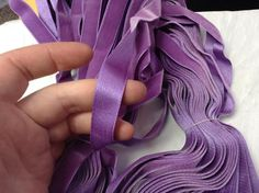 "3 Yds Antique Vintage 2-1//4/""  Purple Violet French Silk Rayon Velvet Ribbon"