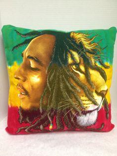 Bob Marley TShirt Pillow by FleeceHatsGalore on Etsy, $20.00