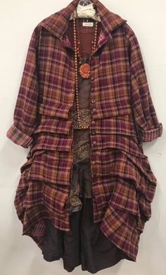 Dec 10 Newsletter - Adam d Frou Frou, Boutique Design, Layered Look, Photo Look, Handmade Clothes, Plaid Scarf, Clothes For Women, My Style, Magnolia Pearl