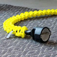 knot*knot 2m schwarze Verlängerung mit neongelbem Strangknoten | selekkt.com