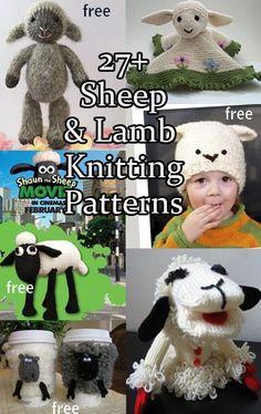 Idea for Jess' baby - Sheep and Lamb Knitting Patterns with many free knitting patterns Knitting For Kids, Free Knitting, Knitting Projects, Baby Knitting, Crochet Projects, Knitting Toys, Animal Knitting Patterns, Stuffed Animal Patterns, Crochet Patterns
