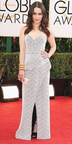 Emilia Clark - 2014 Golden Globes: Red Carpet Arrivals - Golden Globes 2014 - Celebrity - InStyle