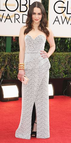 Emilia Clark - 2014 Golden Globes: Red Carpet Arrivals - Golden Globes 2014 - Celebrity - InStyle