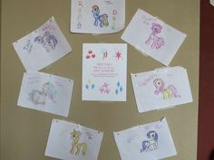 Getting the birthday girl in on the action.. She created artwork for her My Little Pony Art Gallery