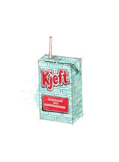 """Kjeft"" (Norwegian retro cool-aid)  Copyright: Emmeselle.no   illustration by Mona Stenseth Larsen"