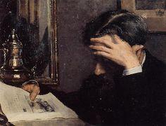 Georges Lemmen Man reading