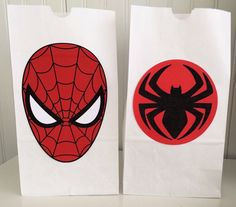 12 Spiderman Favor bags, Spiderman Party Bags, Spiderman Party Favors, Spiderman Birthday Party Decorations, Superhero Birthday Party by LuluBellaCreations on Etsy Spiderman Theme, Superhero Theme Party, Girls Party Decorations, Party Themes, Party Bags, Party Favors, Birthday Crafts, Birthday Nails, Man Birthday