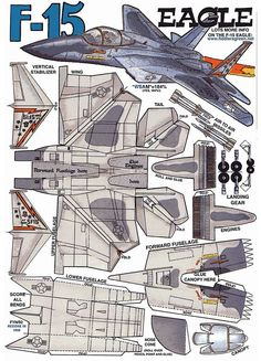 F 16 paper airplane templates crafts
