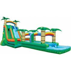 22ft Tropical Waterslide Rentals from Astro Jump of Atlanta Www.astrojump.com