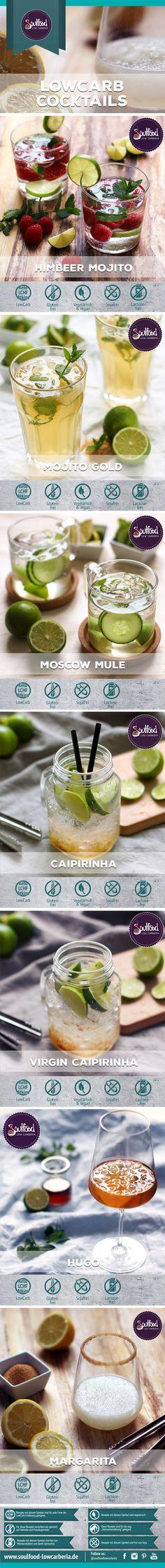 Die perfekten LowCarb Cocktails. 7 kohlenhydratreduzierte Rezepte: Himbeer…