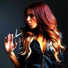 Hairstyles / red to blonde . ombre