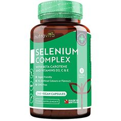 Selenium Complex with Beta Carotene and Vitamins C & E – Contributes to Normal Function of The Immune System – Vegan Vitamin D, Natural Vitamin E, Vitamins For Women, Beta Carotene, Made In Uk, Vegan Friendly, Thyroid, Health Problems, Immune System