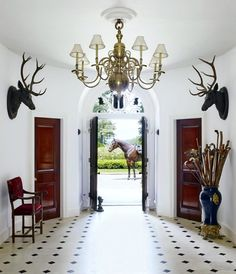 At Home With Ralph Lauren via theaceofspaceblog.com. Ralph Lauren's Home as featured in Architectural Digest...