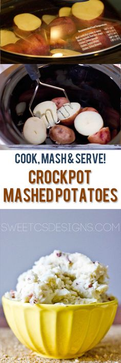 Crockpot mashed potatoes- save stovetop space! You can make and serve your spuds in the crockpot! #holidayideaexchange