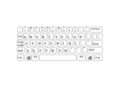 Worksheets Blank Keyboard Template Printable blank map of a qwerty keyboard as template for maps computer printable great using with students in school