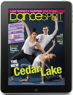 """Get """"Dance Spirit"""" on Your iPad, iPhone or iPod Touch! To subscribe, visit www.dancespirit.com/digital"""