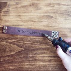 DIY Leather Bracelet With Dremel Tool Tutorial on Instructables
