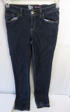 ONLY $4.95 #ebayLiquidation So Skinny Denim Blue Jeans Girls Size 14 Straight Leg #SoSkinny #SlimSkinny
