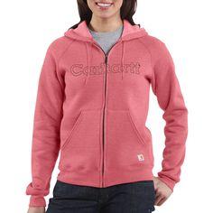 Carhartt Graphic Hoodie Sweatshirt - Midweight (For Women) in Sherbet Heather
