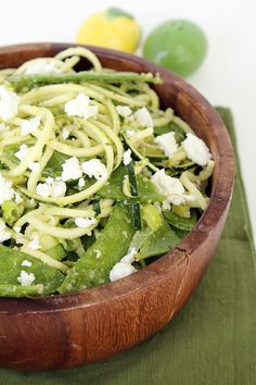 Mint Pesto Zucchini Pasta with Goat Cheese and $75 Wild Mint Shop Giveaway!